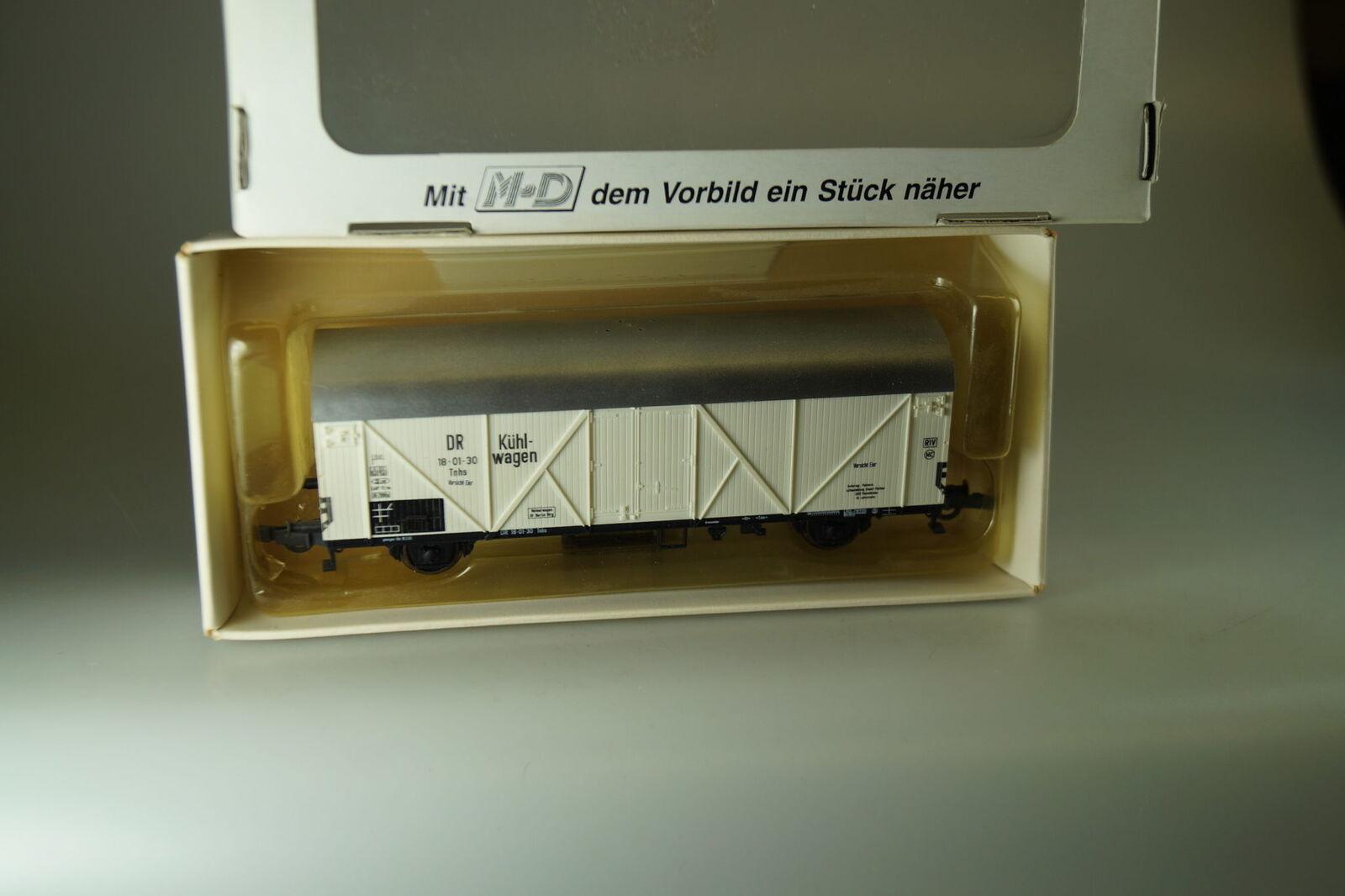Rareza  H0 M-D   Pequeño Maqueta de Tren 111  Vagón Mercancía  Vorsicht Huevos