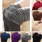 Women Thermal Thick Warm Fleece lined Fur Winter Tight Pencil Leggings Pants PLS