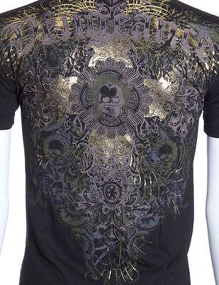 Archaic AFFLICTION Mens T-Shirt VENGEANCE Skull Cross Biker MMA UFC M-4XL $40