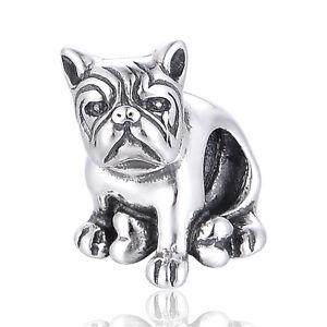 Cute-Bulldog-Charm-925-Sterling-Silver-Dog-Charm-Birthday-Gift