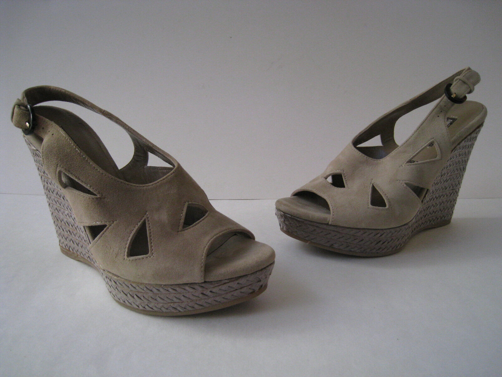 BRUNO MAGLI WEDGE SANDAL 5  HEEL femmes Taille US 8.5 EUR 39.5 HOT MADE IN ITALY