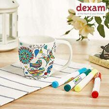 """Dexam """"Zum Hinzugeben Farbe"""" Natur in Farbe Vogel Schmetterling Becher Tasse"""