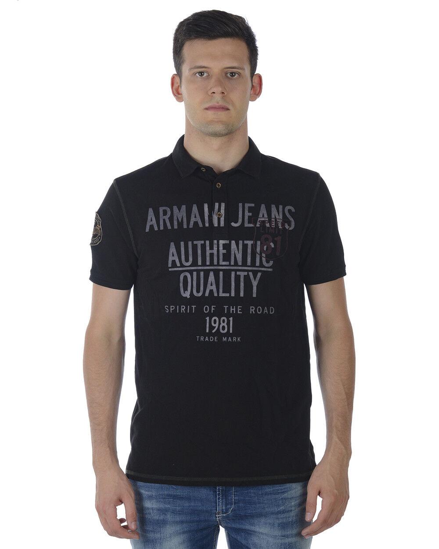 Polo Armani Jeans Aj Shirt Cotone Uomo Nero SA6M14MG CE5
