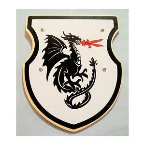 "Holzkönig H401 Schild ""Feuerspeiender Drache"" Holzschild Ritter NEU!    #"