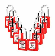 Lockout Tagout Locks Safety Padlock Plastic Red 10pcs 10 Red Different No