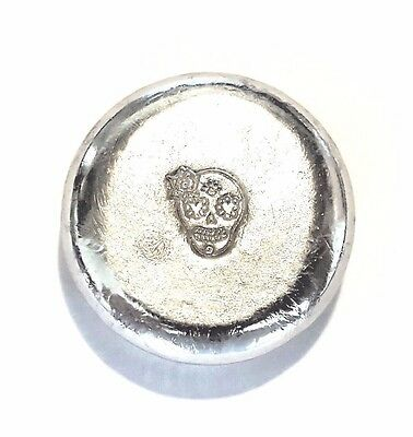 Grimm Metals Angry Skull 1 Troy Ounce .999 Fine Tin Bullion Round
