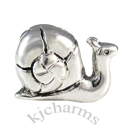 Snail Silver European Spacer Charm Bead For Bracelet EB664