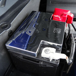 Image Is Loading Mustang Billet Battery Cover Polished Gt And 12v