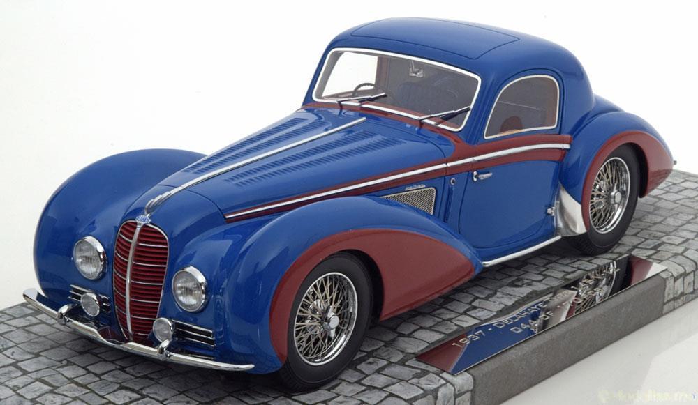 DELAHAYE TYPE 145 V-12 COUPE 1937 blu rosso MINICHAMPS 107116121 1/18 RESINE