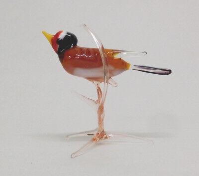 Glastier Glastiere Glasfigur großer Vogel mehrfarbig Glasvogel Lauscha Qualität