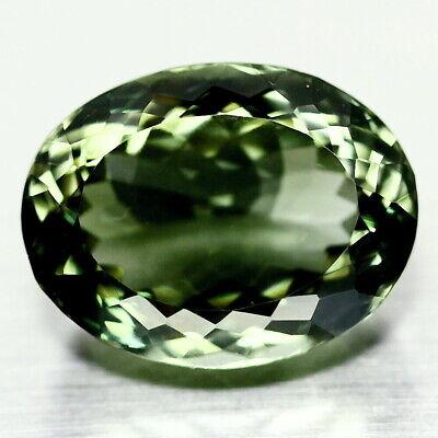 Top Prasiolite : 22,89 Ct Natürliche Grün Prasiolith (grüner Amethyst) Hell In Farbe