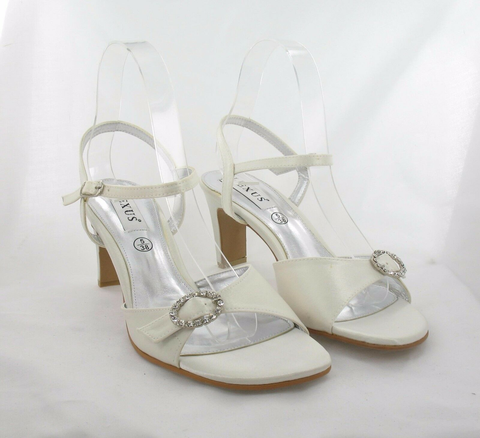 Ladies shoes Size 5 Ivory Party, Prom, Wedding Evening (K30 6 17-23)