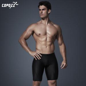 f9818d95df Men's Quick Dry Swimming Swim Trunks Boxer Briefs Shorts Jammer ...