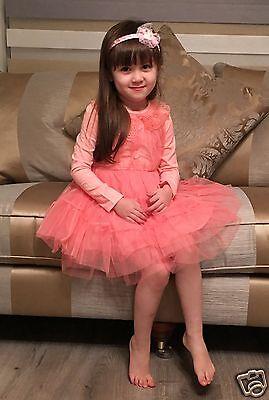 New princess high waist  Long Sleeve dress for girls 2-7Yrs