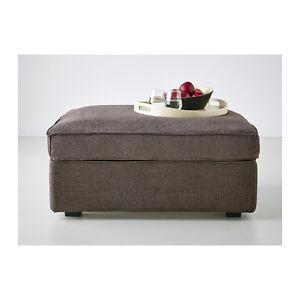 IKEA KIVIK Cover for footstool Tullinge Gray Brown Ottoman Slipcover on