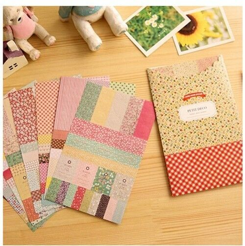 8 sheets pastoral style of floral decoration calendar diary book paper stickers