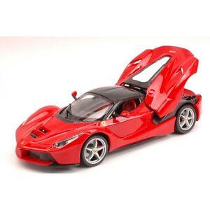 FERRARI-LA-FERRARI-2013-RED-1-24-Burago-Auto-Stradali-modello-modellino-die-cast