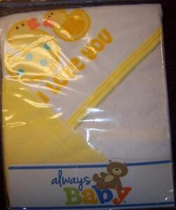 4792fa7140da Always Baby A Trademark of Gerber Hooded Towel & wash cloth, Duck, I ...