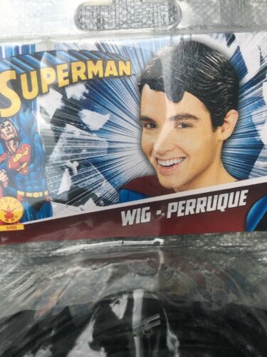 Superman Adult Vinyl Wig by Rubies New Molded Style Cool