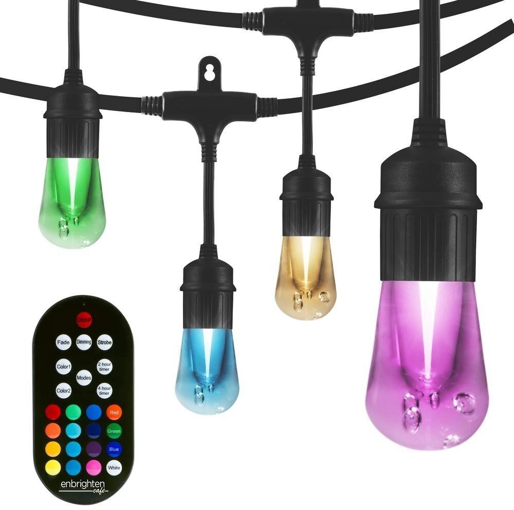 24 ft. Cafe Cadena De Luces Vintage Color Cambiante LED integrado Seasons Bombillas de 12