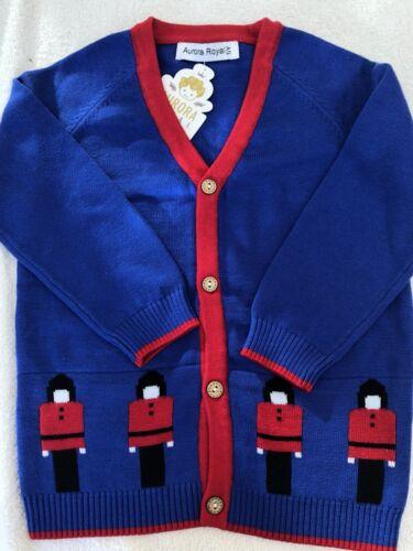 Royal Blue Soldier Cardigan By Aurora Royal