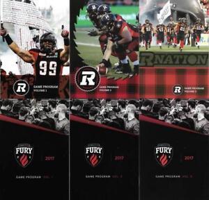 Ottawa-RedBlacks-CFL-Football-All-3-2017-Home-Game-program-set-Fury-Soccer-USL