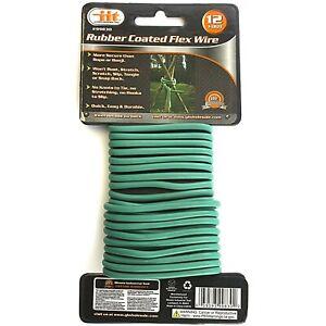 RUBBER-GARDEN-FLEX-PLANT-WIRE-12-ft-Support-Cord-Wrap-Flexible-Vines-Trellises