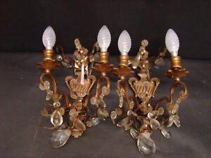 Vecchia coppia di appliques in bronzo con gocce ebay