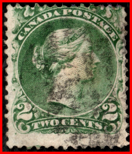 Canada Used Stamp Queen Victoria 2¢ (1868) - #24 VG (18)