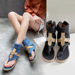 Canvas Sandals Women Shoes Denim Solid