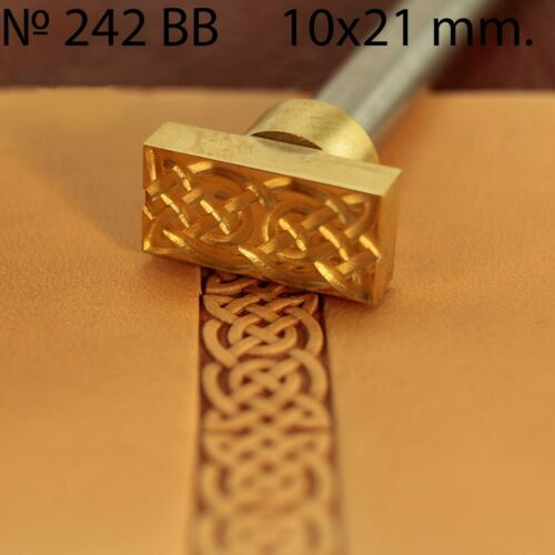 Leather stamp tool for leather crafting crafts brass  stamps #242BB