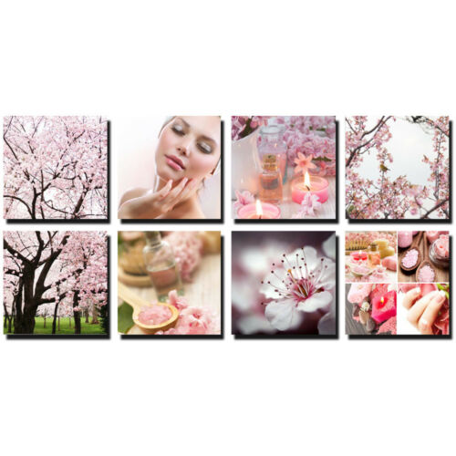 BLOSSOM 8 Pc Beauty Salon Spa Massage Decoration 24 x 24 Canvas Mural CM-PCB
