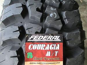 4 New LT 285/70R17 Inch Federal Mud Tires 70 17 2857017 70R R17 M ...