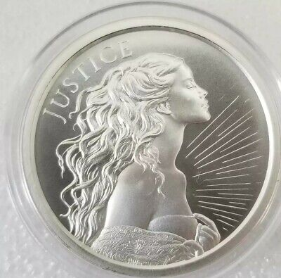 2 oz .999 Silver Shield lady JUSTICE Cardinal Virtue Beautiful Lady Liberty #777
