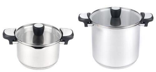 Lock /& Pour Stock Casserole Pot Glass Lid 7.6L 7.6 Litre 4.6 Litre 4.6L 24cm
