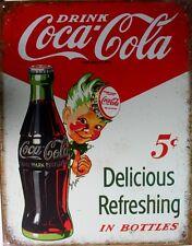 Vintage Replica Tin Metal Sign Drink Coca Cola Bottle Coke Antique soda cup 2168
