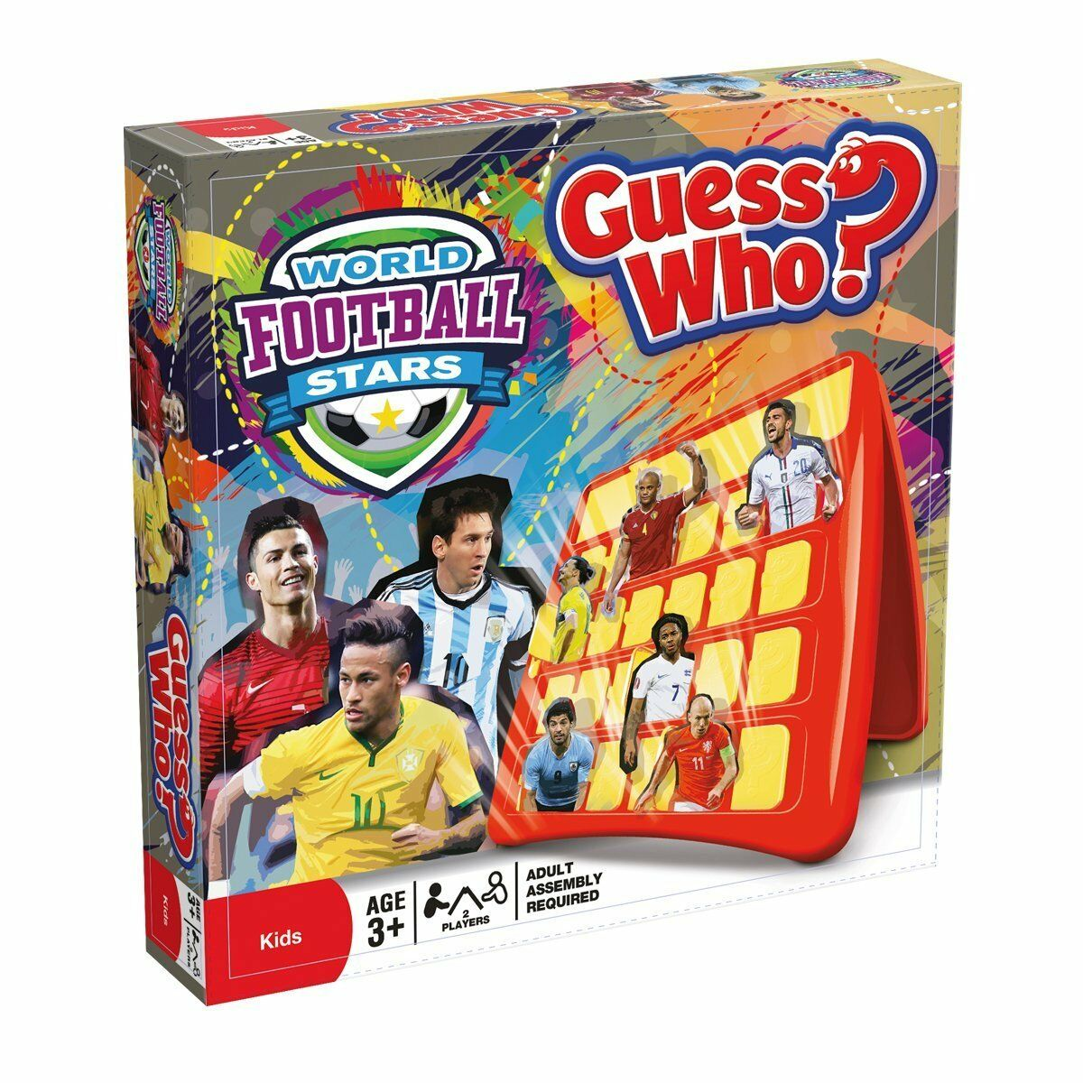 Hasbro World Football Stars Themed Guess Who Junior Fun 2 Player Game