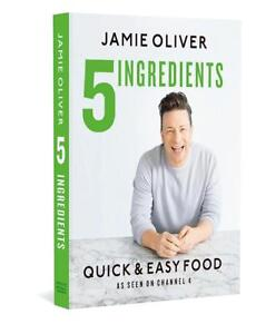 NEW-5-Ingredients-Quick-amp-Easy-Food-by-Jamie-Oliver-Hardcover-Free-Shipping