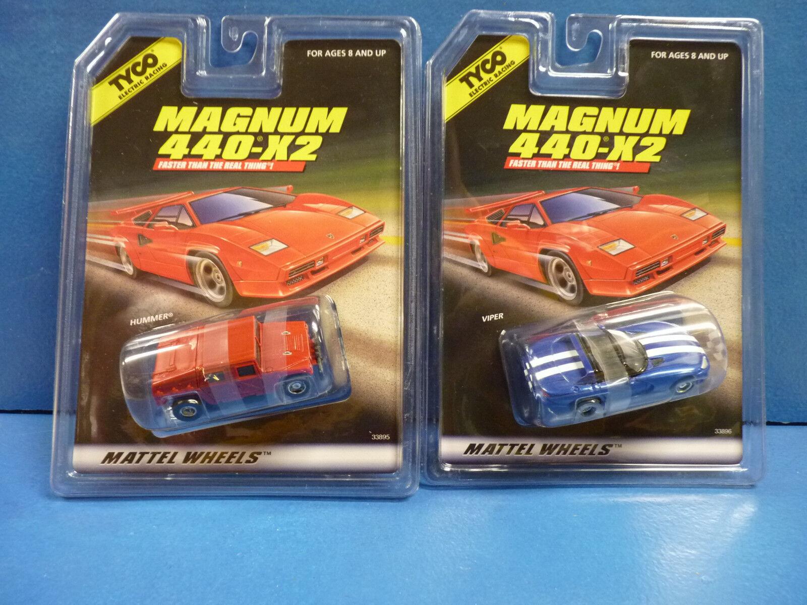 TYCO MAGNUM 440-X2 SLOT CARS 1 EA 33896, 1 EA 33895 HUMMER, VIPER