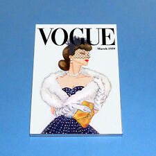 Vtg Barbie Gay Parisienne & Vogue Magazine Cover Inspired Photo In Magnet Frame