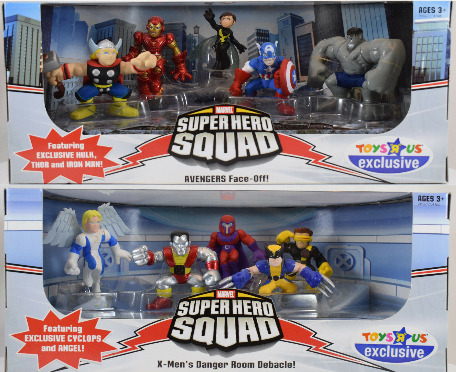 Marvel Super Hero Squad Toys R Us Exclusive 2 set - New Sealed