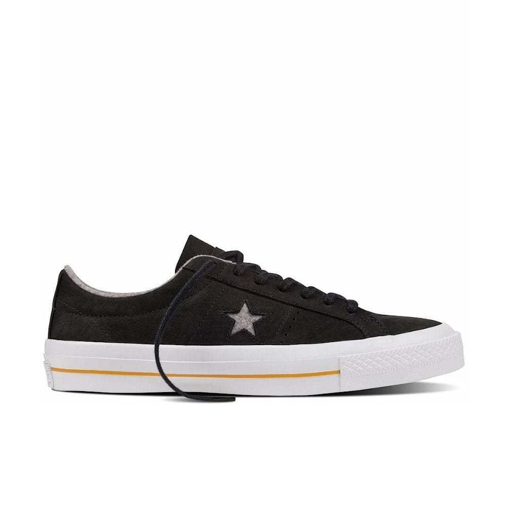 Para Hombre Converse Ox Cons una Estrella Nubuck Ox Converse Zapatos  De Skate, la 153717 C Multi Tallas Negro/como dfdb07