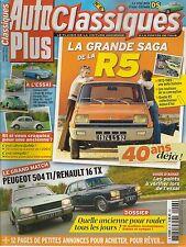 AUTO PLUS CLASSIQUES 6 R5 PEUGEOT 504 TI R16 TX OPEL MANTA 1900 S VW COX 1300 PA
