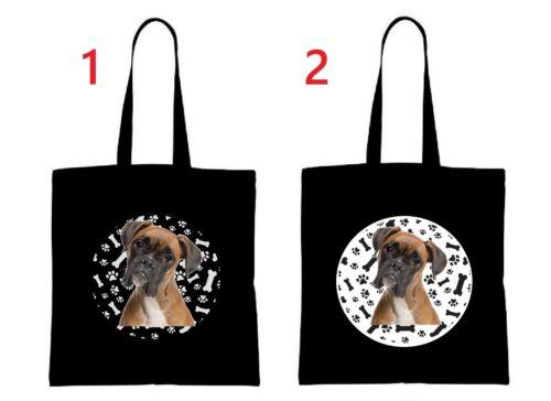 BOXER Hund dog Einkaufstasche Tasche shopping bag groß big schwarz wählen B1