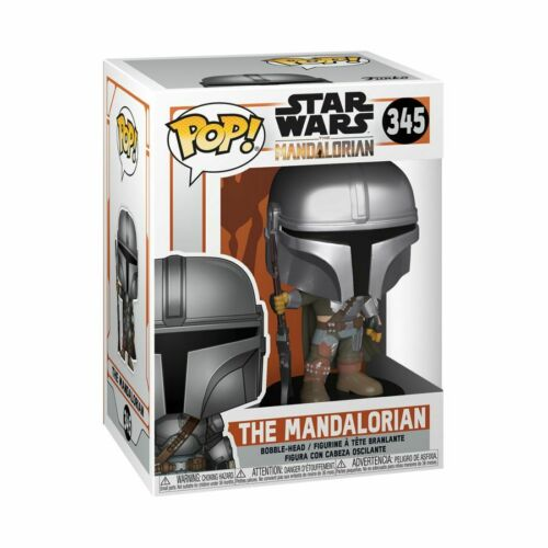 The Mandalorian Mandalorian Pose Metallic Pop Vinyl Star Wars