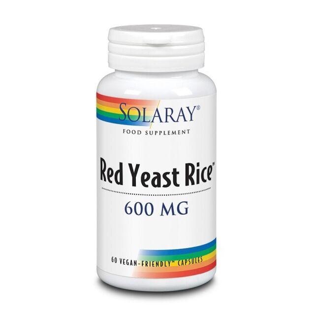 Solaray Red Yeast Rice 600mg Capsules 60
