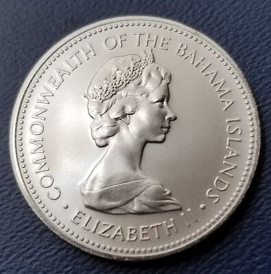 Rare Proof Bahamas 1972 25 Cents~Sailboat~Only 35,000 Minted~Free Shippng