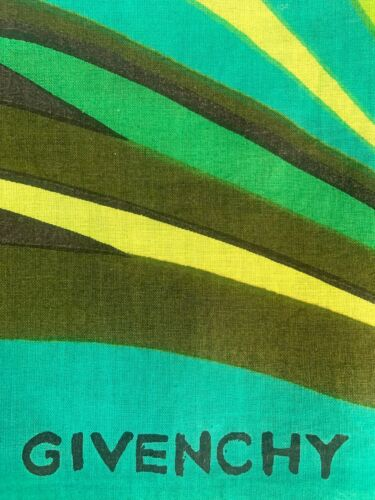 Vintage 1960s Givenchy Scarf - Green Multicolor Co