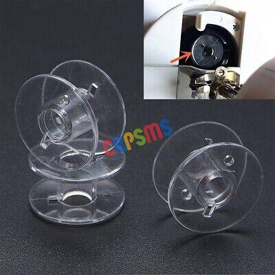 Transparent Sewing Bobbins Universal Plastic Bobbins for Brother Singer Babylock Kenmore Janome 10pcs