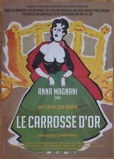 LE CARROSSE D'OR 1952 Ressortie 2012 Affiche Originale 40x60 Movie Poster